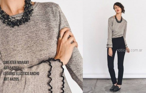 sweater con mangas acampanadas Pablo Mei invierno 2018