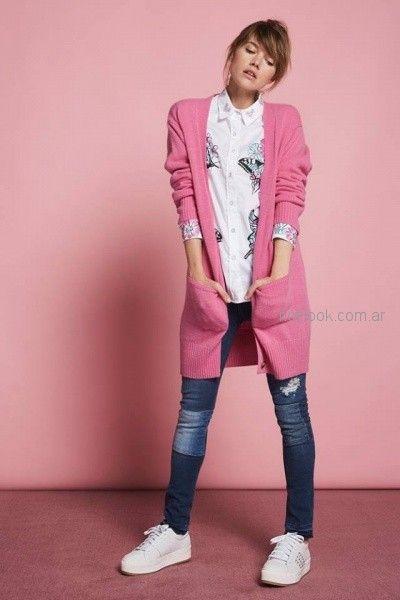 tapado cardigan largo lana Agustina Saquer otoño invierno 2018