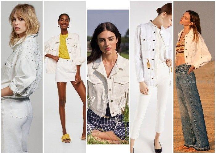Campera blanca de jeans - ropa de moda verano 2019 Argentina