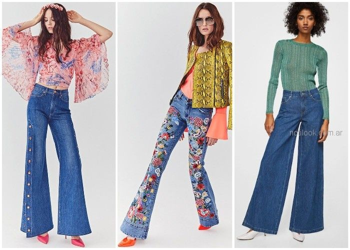 1fcb5ce8a Jeans anchos oxford – ropa de moda verano 2019 Argentina – Moda ...