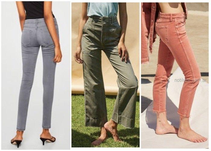 Jeans de colores - ropa de moda verano 2019 Argentina