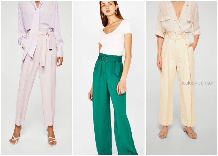 Pantalon cintura Ceñida - ropa de moda verano 2019 Argentina