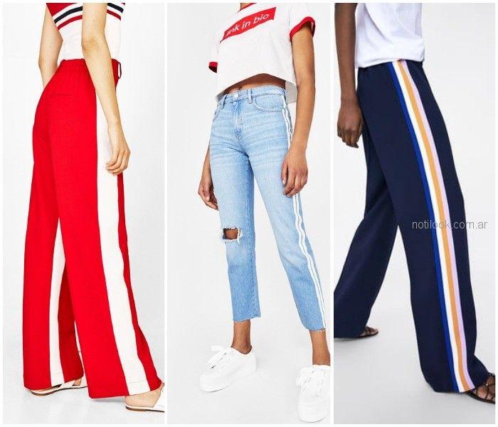 Pantalones con rayas verticales - ropa de moda verano 2019 Argentina