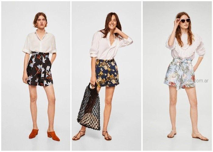 Short acampanado estampado floral - ropa de moda verano 2019 Argentina