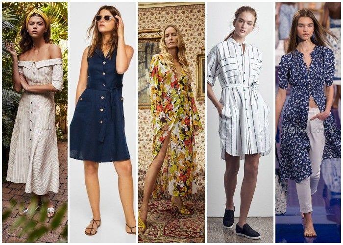 Vestido camisero - ropa de moda verano 2019 Argentina