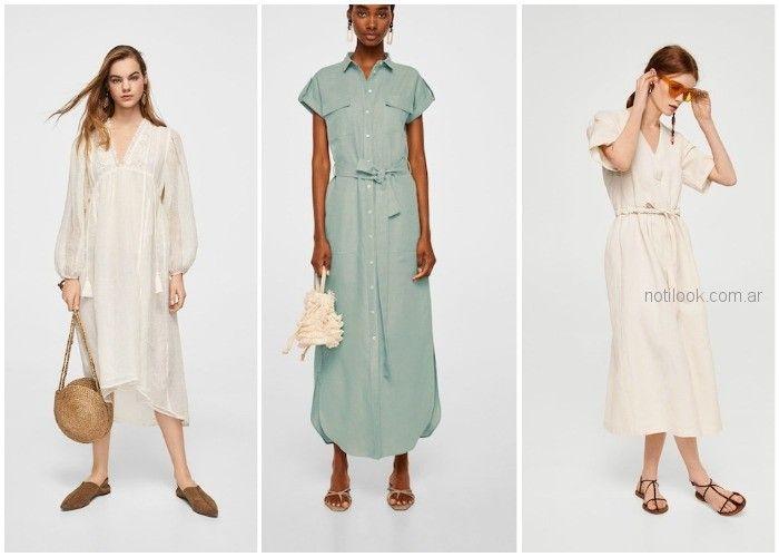 Vestido de lino - ropa de moda verano 2019 Argentina