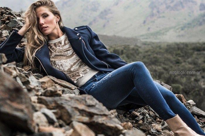 blazer mujer juvenil buzo de terciopelo jeans AF jeans otoño invierno 2018