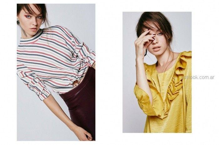 blusas a la moda akita invierno 2018