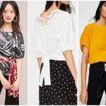 blusas con mangas con volumen - ropa de moda verano 2019 Argentina