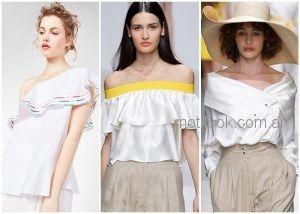 blusas hombros descubiertos - ropa de moda verano 2019 Argentina