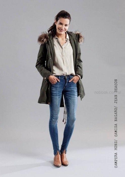 camisa informal mujer parka gabardina mistral mujer invierno 2018