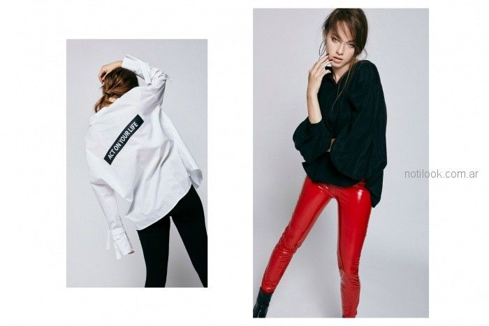 camisas holgadas para mujer y calza akita invierno 2018