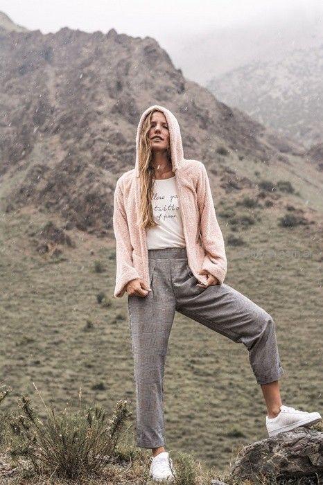 campera peluche mujer juvenil AF jeans otoño invierno 2018