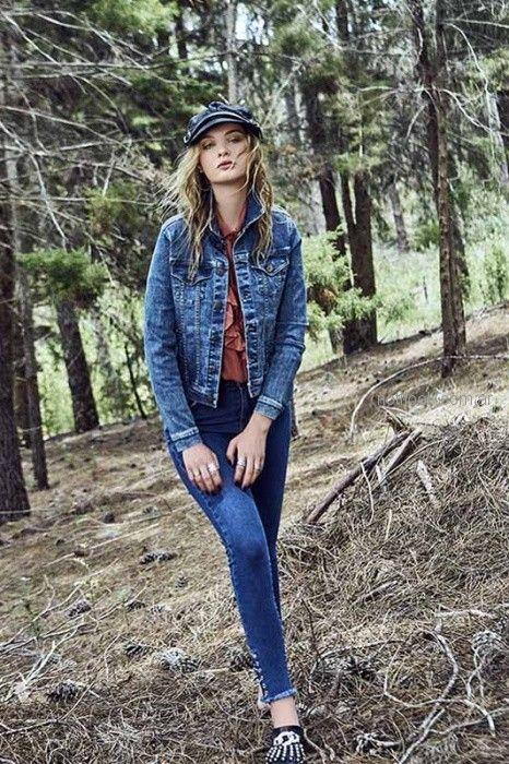 camperas de jeans mujer inversa otoño invierno 2018