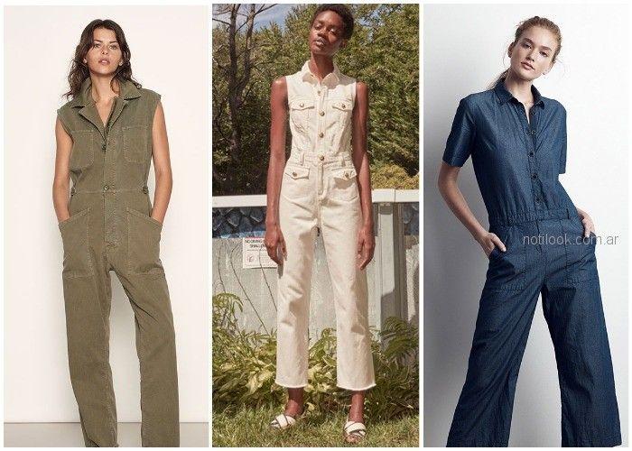 enterito largo tipo obrero o safari - ropa de moda verano 2019 Argentina