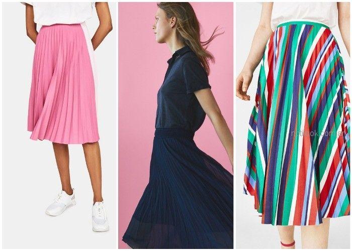 falda midi plisada - ropa de moda verano 2019 Argentina