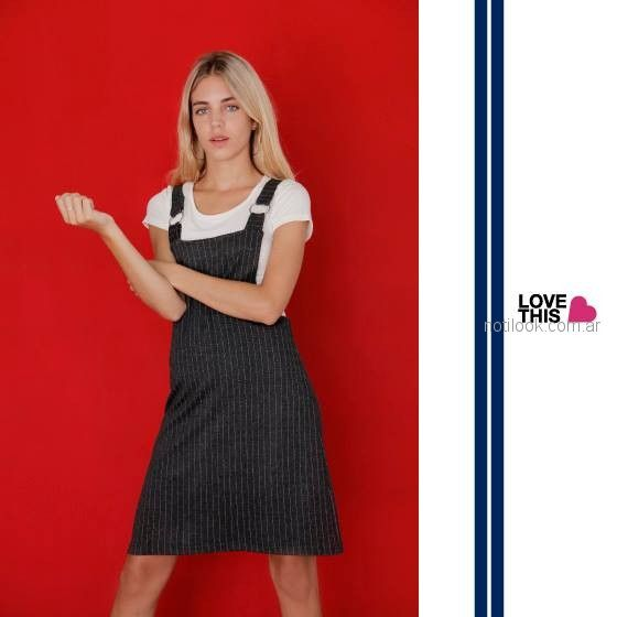 jumpler a rayas juvenil look casual Love This invierno 2018