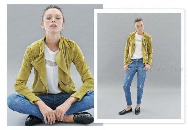 look casual urbano con jeans rotos mujer Sicala invierno 2018