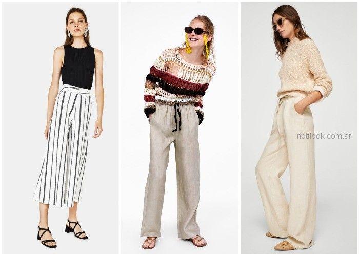 pantalones de lino - ropa de moda verano 2019 Argentina