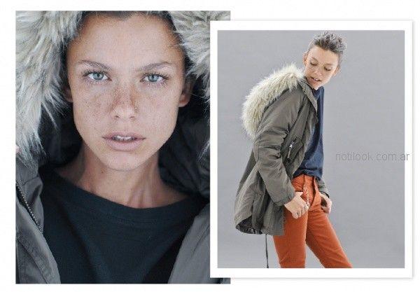 parka con capucha mujer Sicala invierno 2018