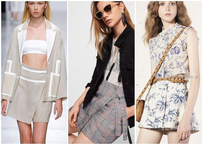 pollera pantalon - ropa de moda verano 2019 Argentina