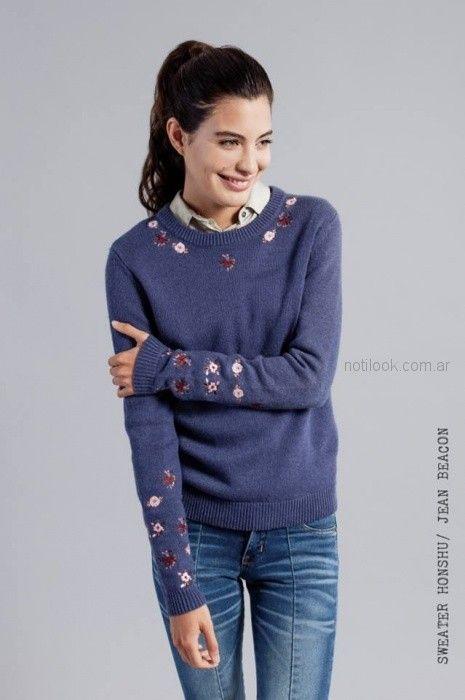 sweater bordado mujer mistral mujer invierno 2018