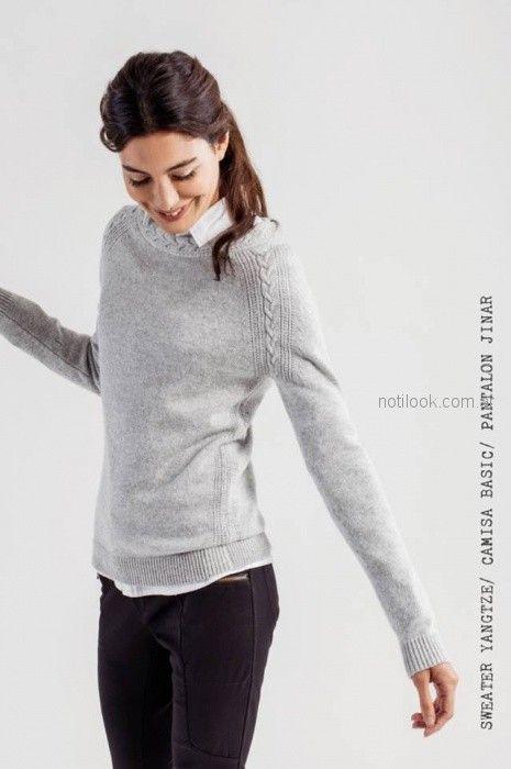 sweater de hilo mistral mujer invierno 2018