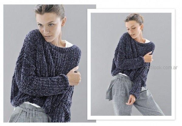 sweater tejido lana bucle Sicala invierno 2018