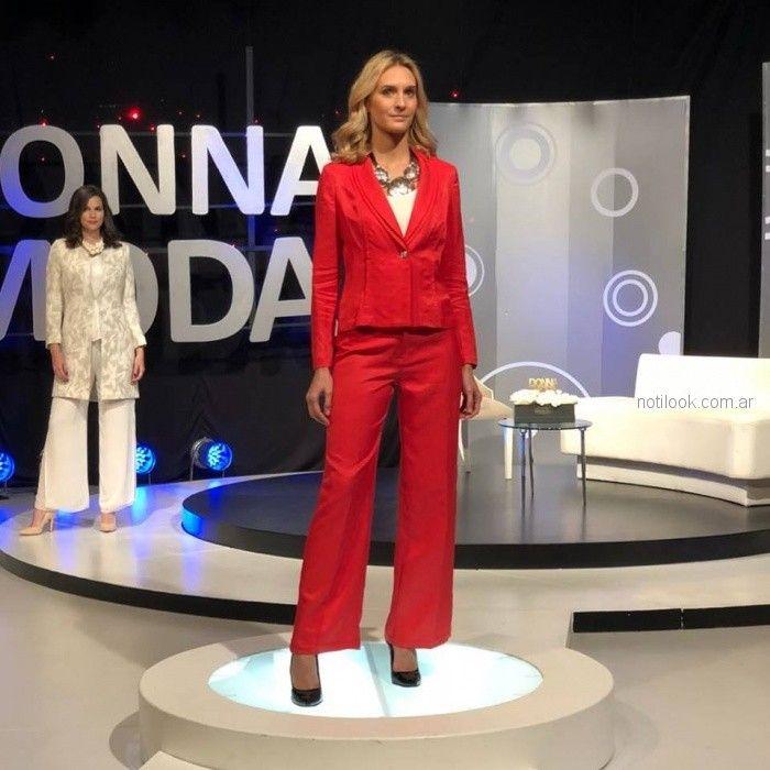 Traje rojo para mujer verano 2019 - Anna Rossatti