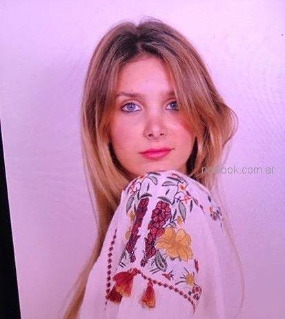 blusa blanca bordada estilo bohemio vars verano 2019