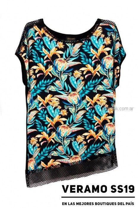 blusa talles grandes estampada verano 2019 - Veramo