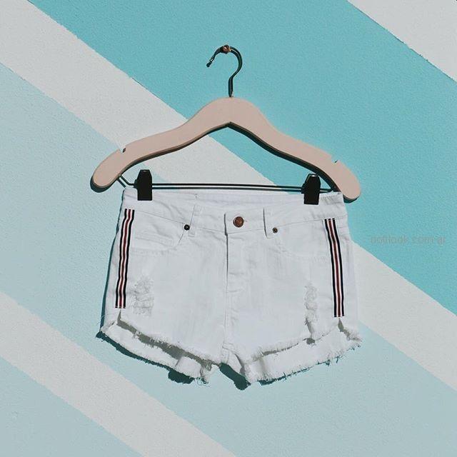 short de jeans blanco primavera verano 2019 - Como quieres que te quiera