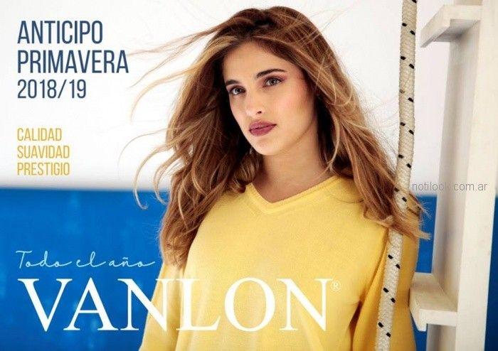 sweater tejido amarillo Vanlon Tejidos verano 2019