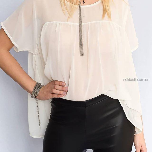 blusa blanca holgada con pantalon engomado pura pampa primavera verano 2019