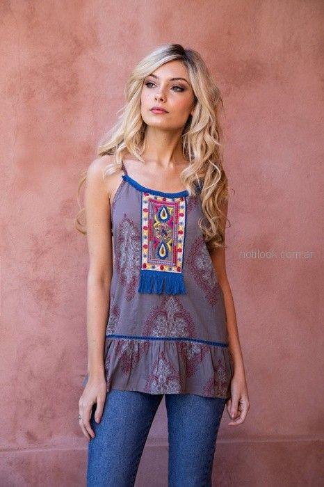 blusa casual Sophya look hippie chic verano 2019
