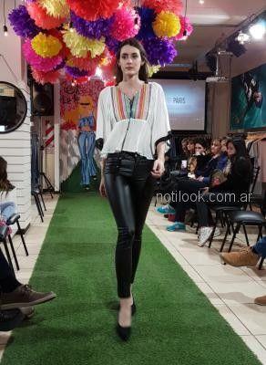 blusa con pantalon engomado Abstracta primavera verano 2019