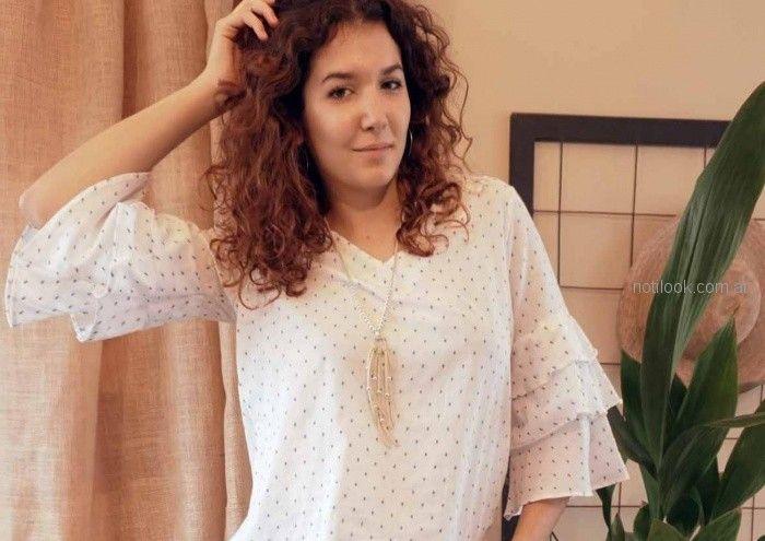 camisola voile a lunares Las taguas verano 2019