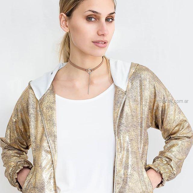 campera dorada mujer pura pampa primavera verano 2019