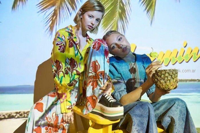 look denim blusa y oxford Jazmin Chebar primavera verano 2019