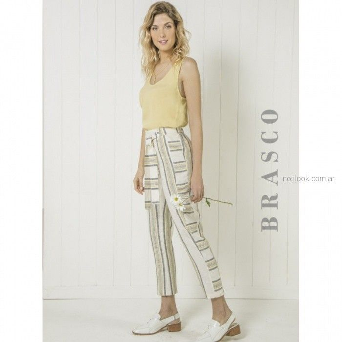 pantalon de lino brasco verano 2019