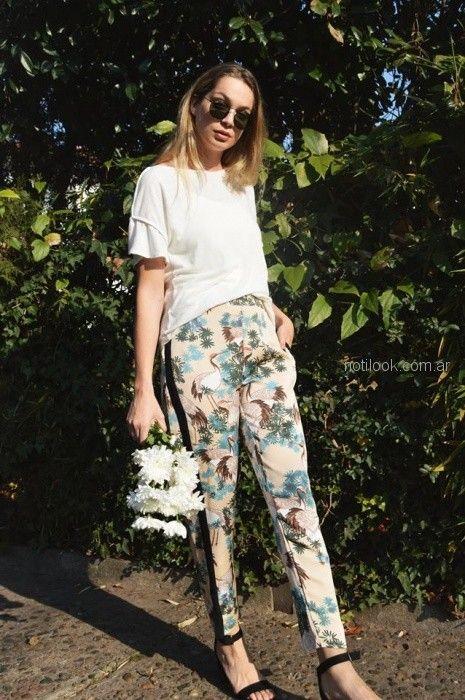 pantalon estampado chupin Summa primavera verano 2019