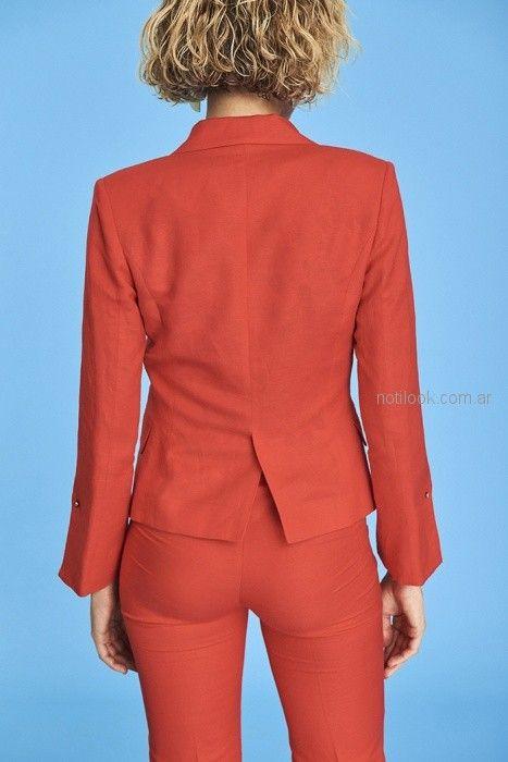 traje rojo mujer Markova primavera verano 2019