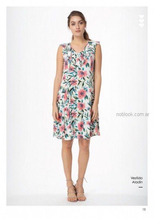 vestido corto para señoras con estampa floral casual Asterisco primavera verano 2019