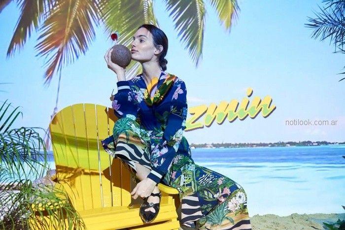 vestido informal largo estampado Jazmin Chebar primavera verano 2019