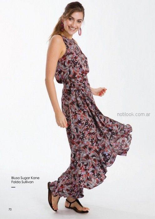 vestido largo estampado para el dia Asterisco primavera verano 2019