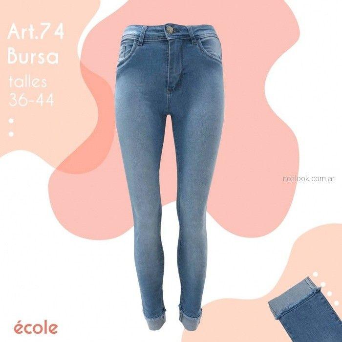 Ecole Jeans claro primavera verano 2019