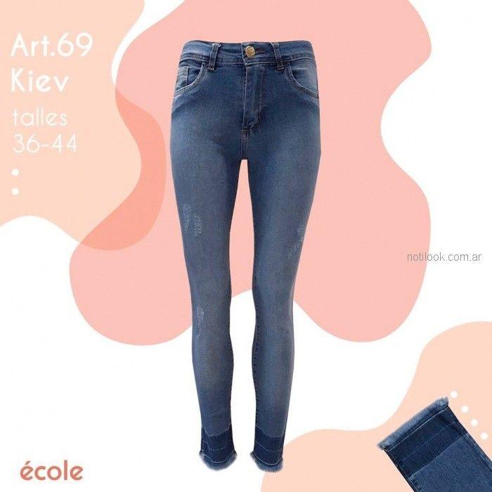 Ecole Jeans con roturas primavera verano 2019