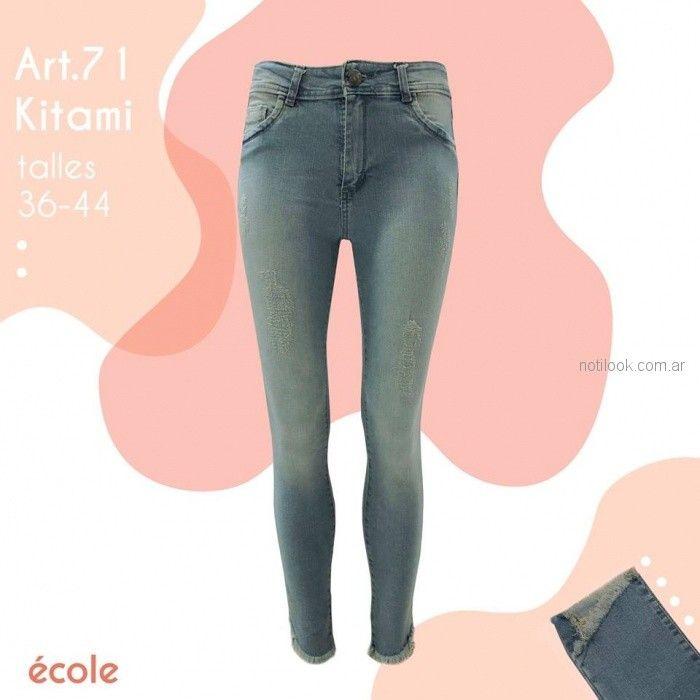 Ecole coleccion Jeans claro primavera verano 2019