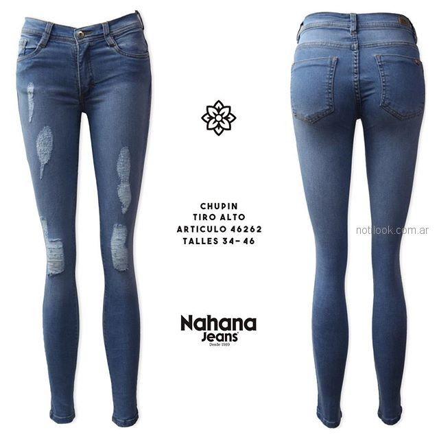 Jeans chupin con roturas - Nahana verano 2019
