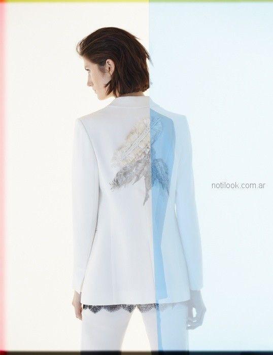 blazer con estamapa en espalda Ginebra verano 2019